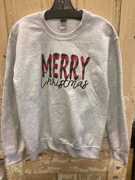 Plaid Merry Christmas Sweatshirt