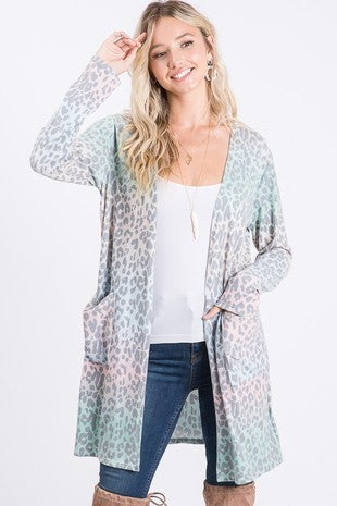 Leaping Leopard Cardigan