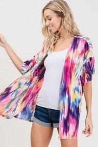 Layered Rainbow Kimono