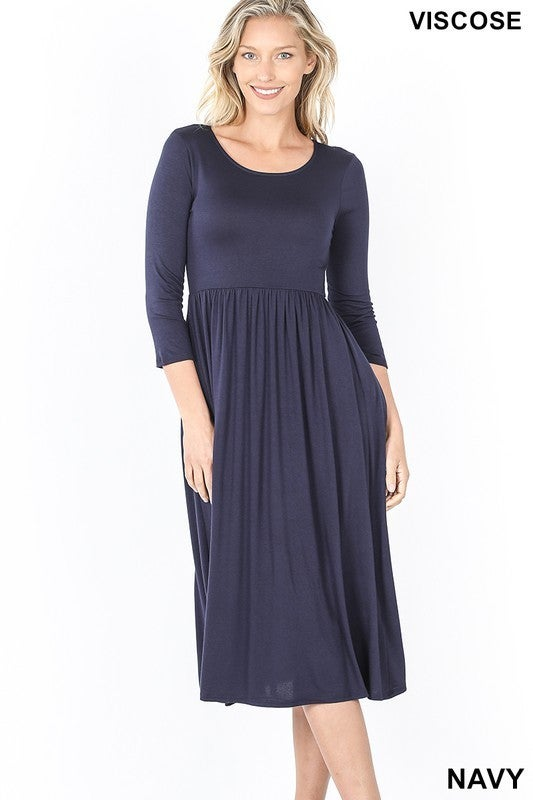 Give Them A Smile Midi Dress-600