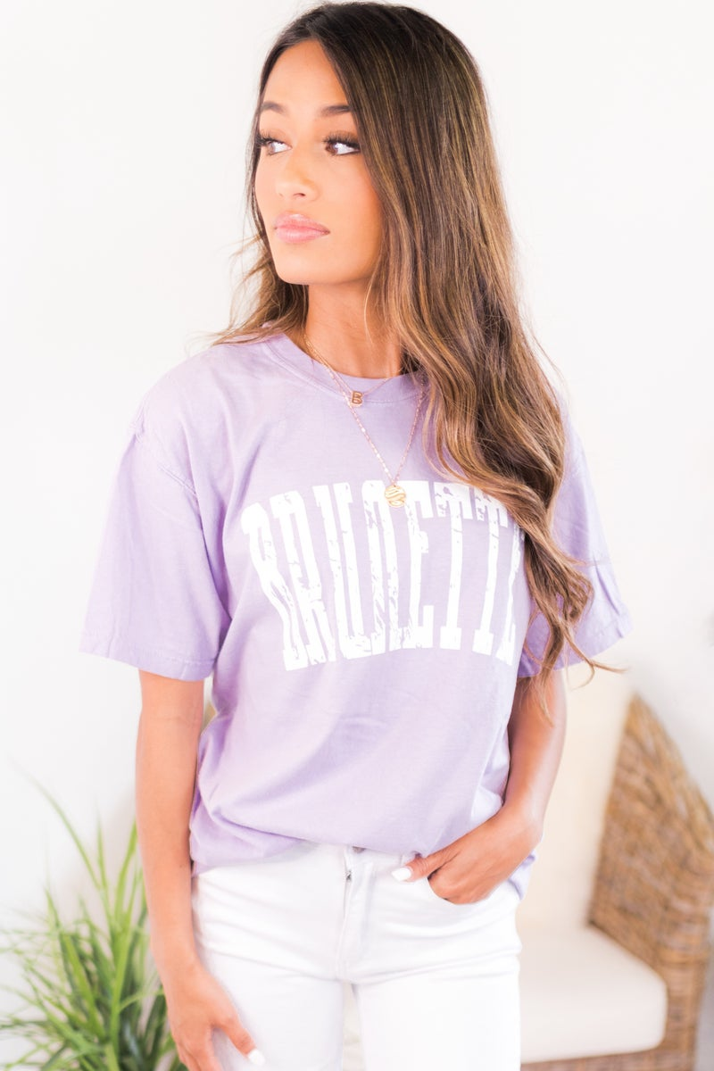 Distressed Brunette Graphic Tee