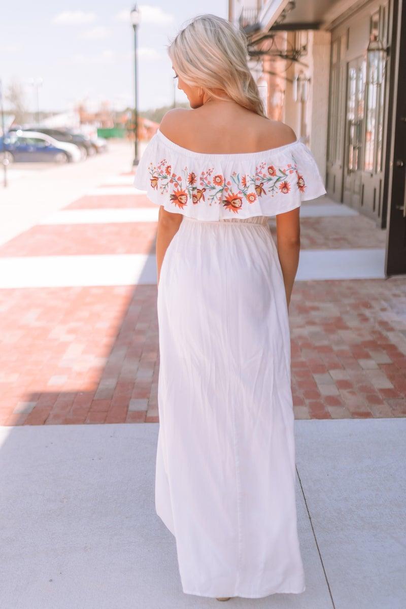 Fine Print Maxi Dress