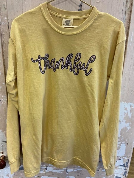 LS Cheetah Thankful Graphic Tee