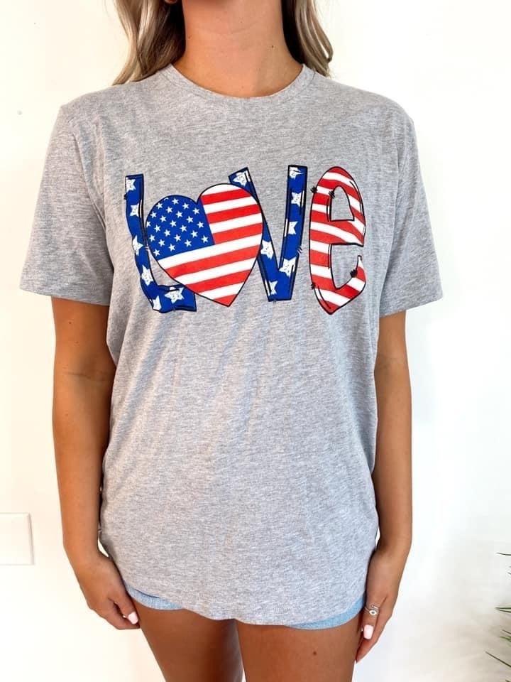 Love America Graphic Tee