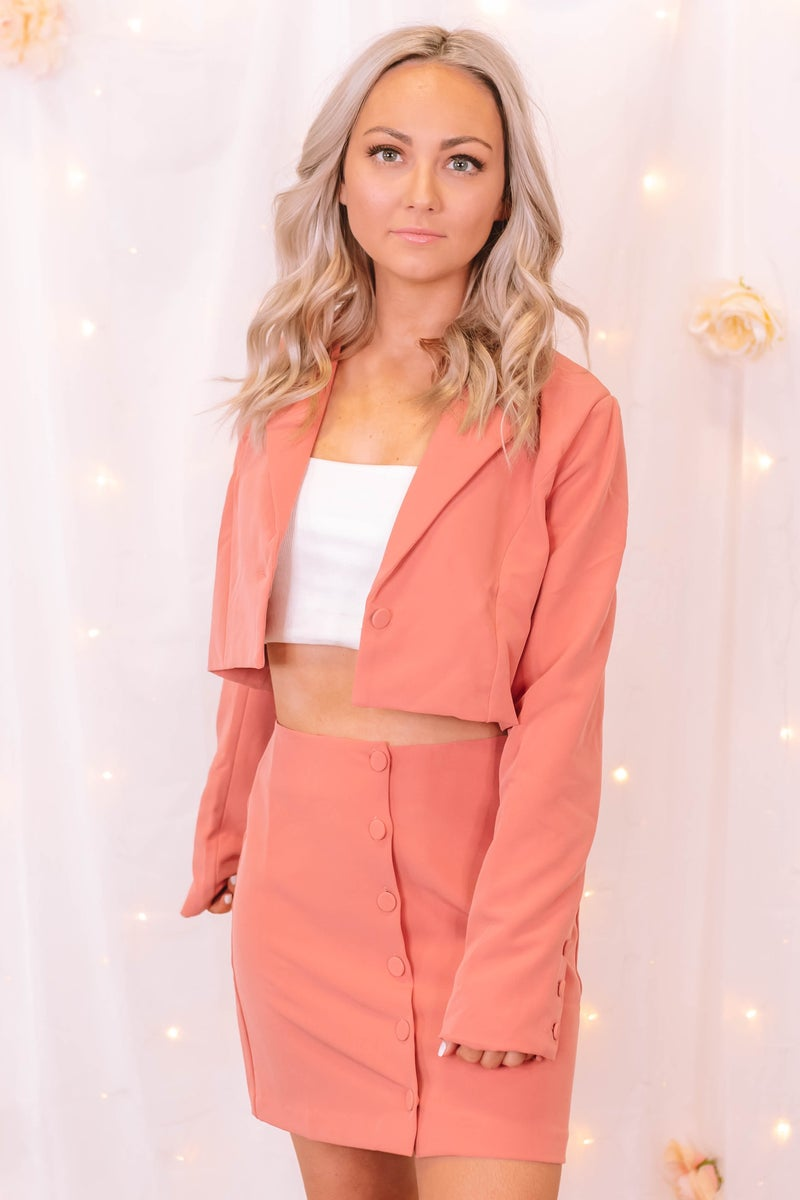Strong Willed Cropped Blazer