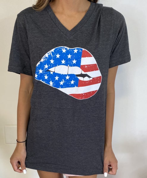 USA Mouth Graphic Tee