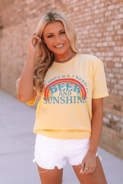 Beer And Sunshine Graphic Tee