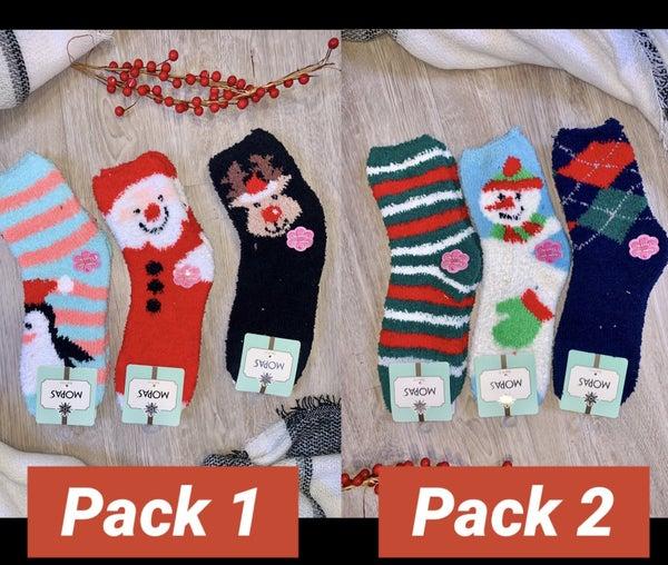 I'll Be Home for Christmas Fuzzy Socks