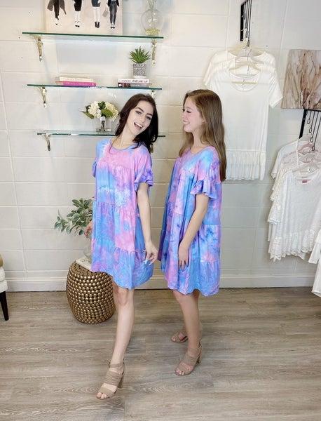 Tiki Bar Tie Dye Dress