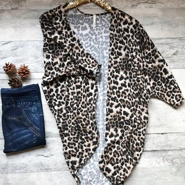 Leopard Open Cardigan *Final Sale*