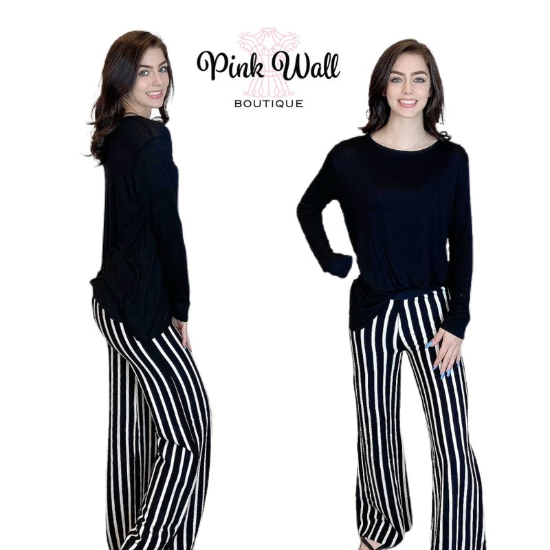 Out On The Town Striped Stretch Pants