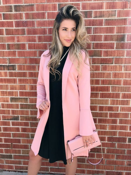 Light Pink Blazer Jacket