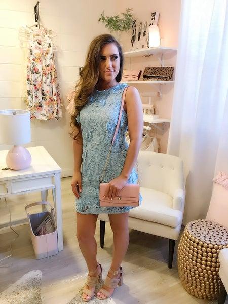 Baby Blue Crochet Dress
