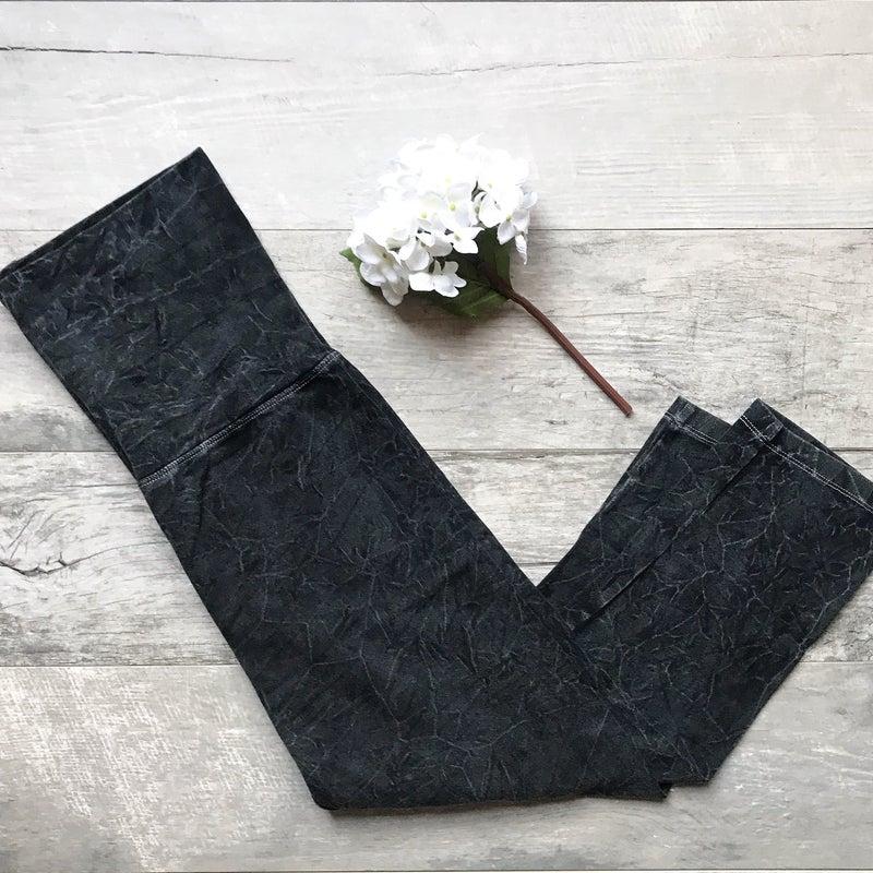 Black Stonewash Leggings