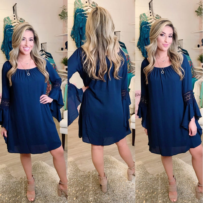 Navy Lace Dress *Final Sale*