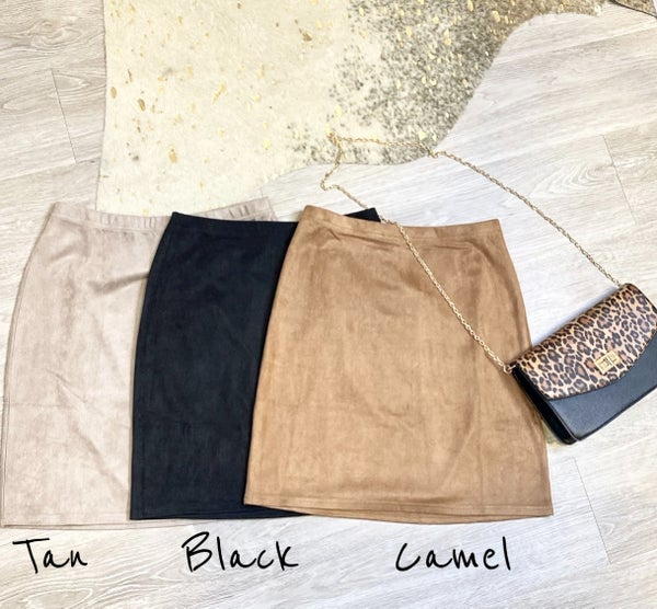 Sassy Faux Suede Skirt