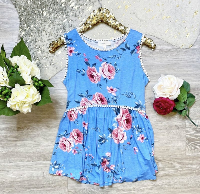 Happy Days Are Here Floral Cinched Top