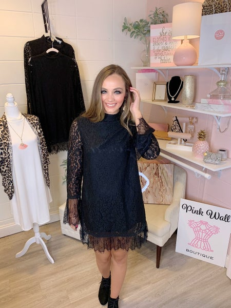 Dressy Black Lace Dress