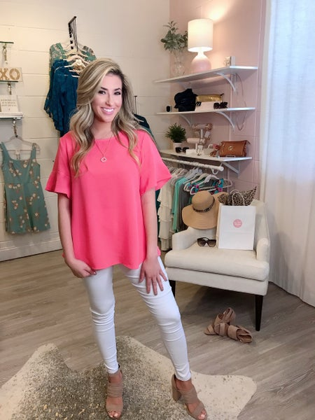 Coral Bell Sleeve Top