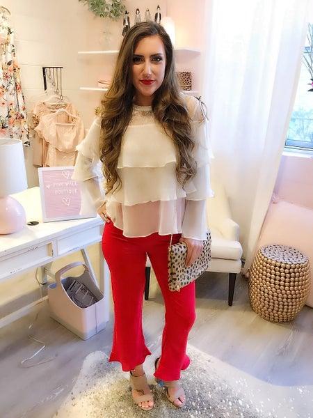Red Ruffle Pants *Final Sale*