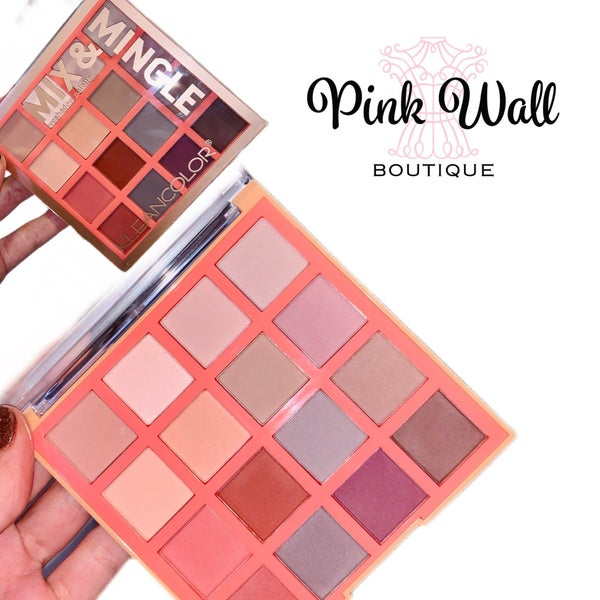 Mix & Mingle 16 Shade Eyeshadow Palette - Matte Burgundy/Grey Shades