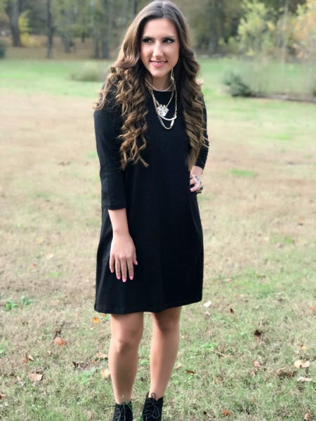 Black Tunic Dress *Final Sale*