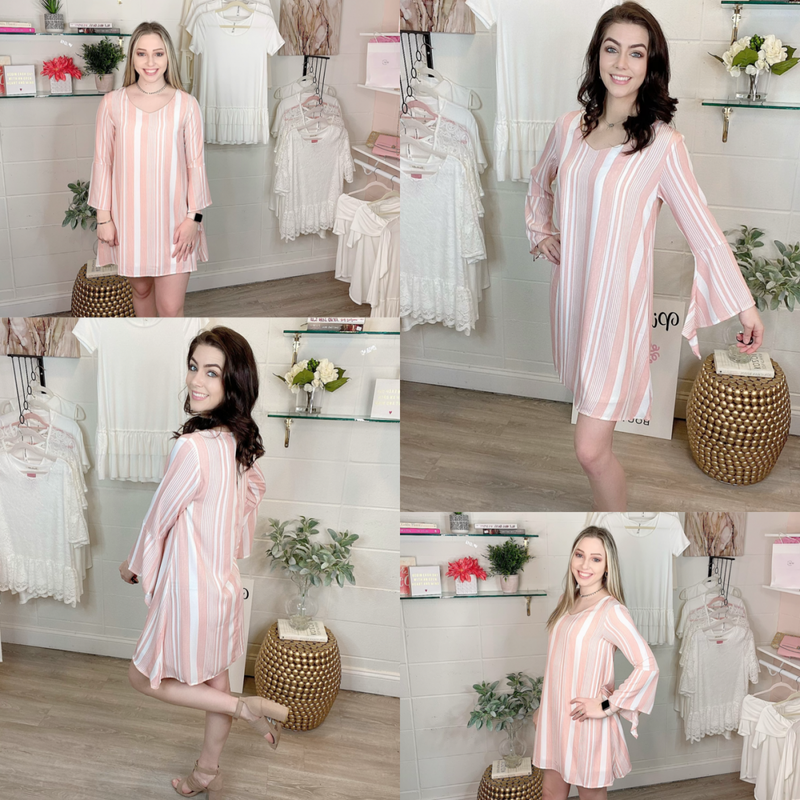 Easy To Love Pink Stripes Dress