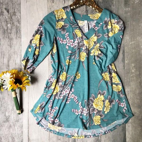 Light Blue Floral Tunic