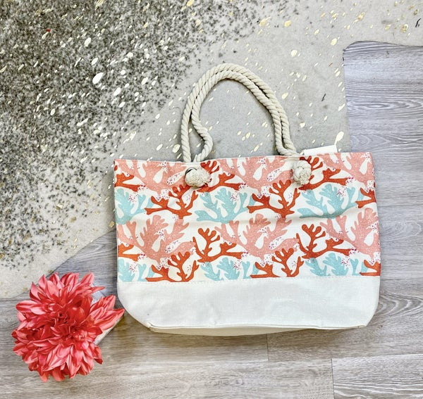 Somewhere On A Beach Corals Tote