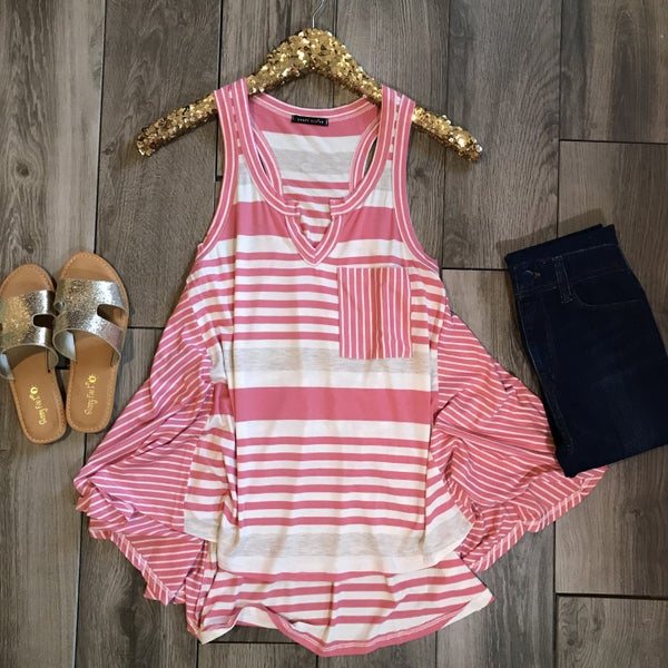 Pink Ivory Stripe Top