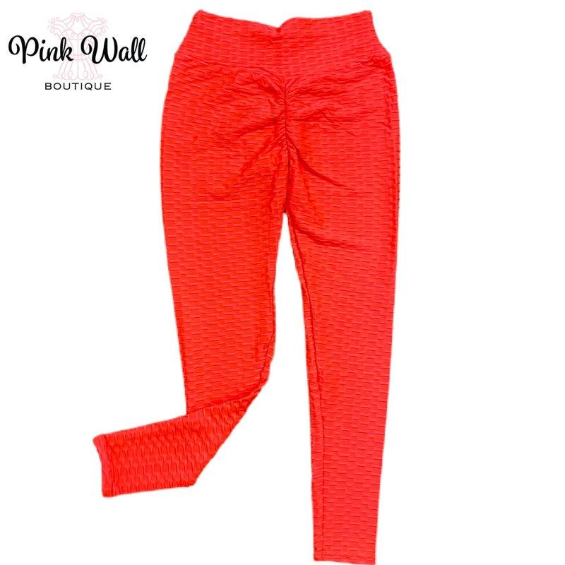 Raise It Up Neon Coral TikTok Leggings