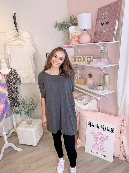 Brand New Day Oversized Tunic Charcoal *Final Sale*