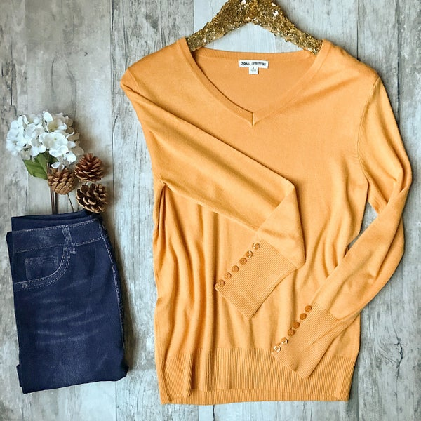 Yellow Button Sweater *Final Sale*