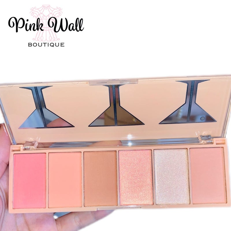 Beauty by Brittany Buzzed N' Blushed 6 Colors Blush Palette