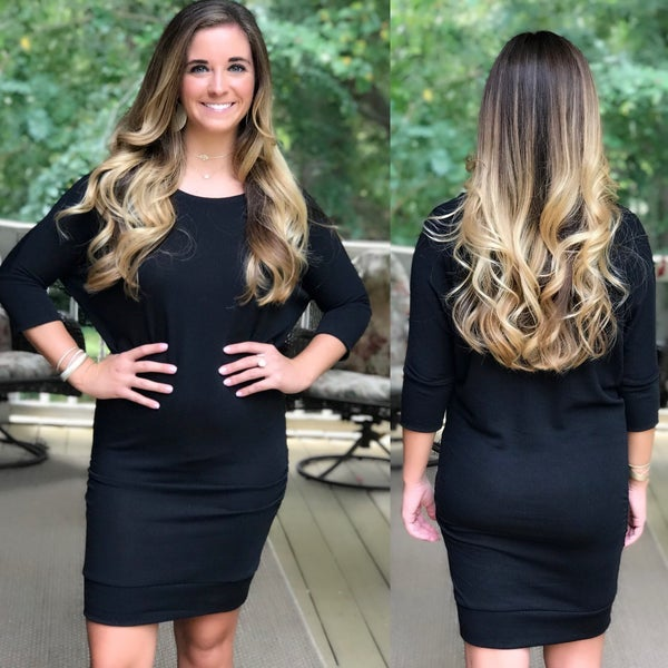 Black Fitted Sweater Dress *Final Sale*