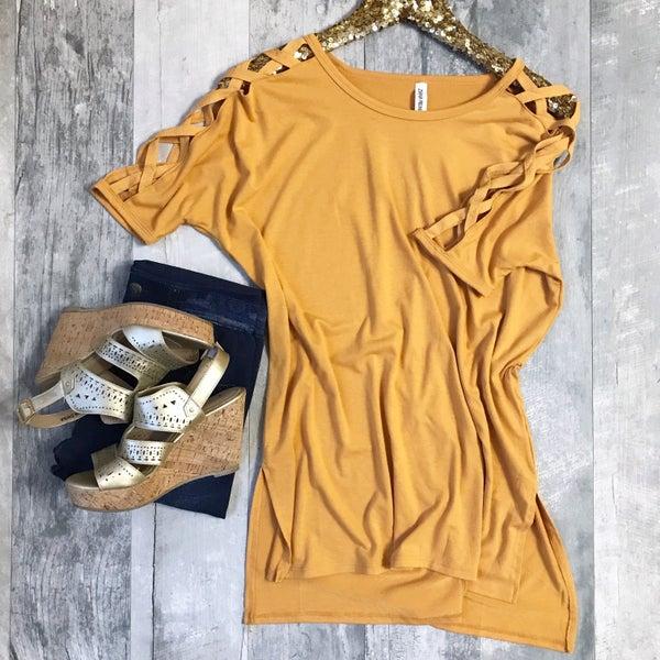 Mustard Criss Cross Tunic
