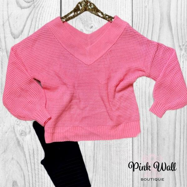 Shine Bright Like a Diamond Bright Pink Sweater