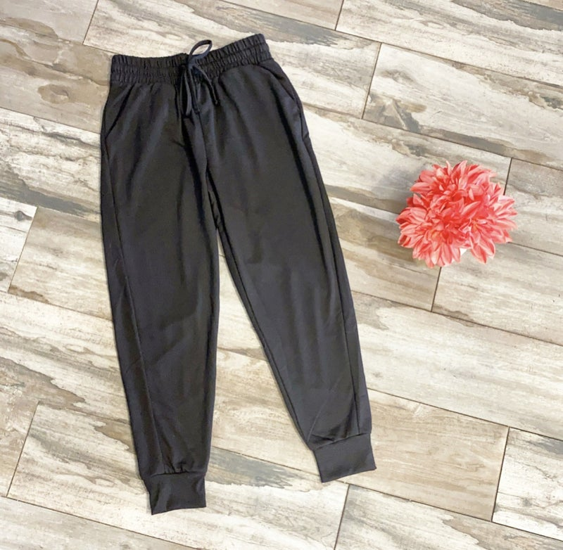 Spend Time Together Joggers Black