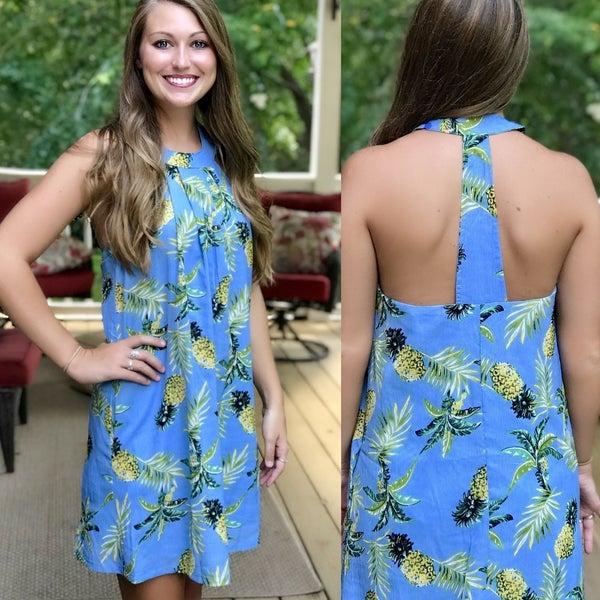 Blue Pineapple Dress