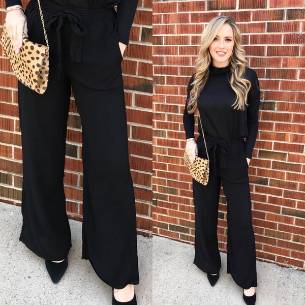 Black Bow TIe Dress Pants *Final Sale*