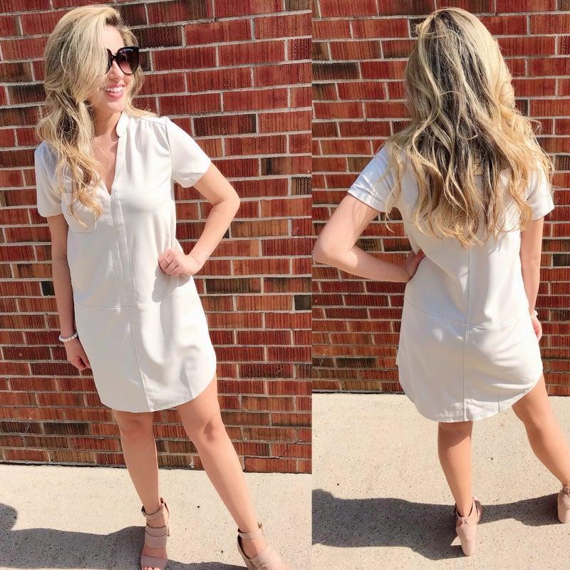 Ivory Pocket Dress *Final Sale*