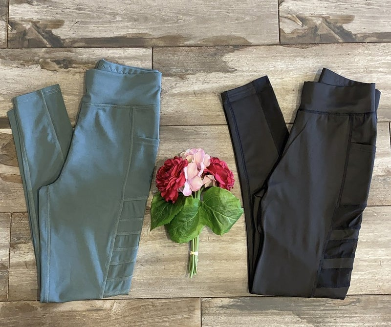 High Waisted Legging with Side Detail