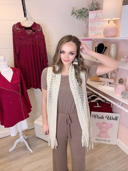 Bubbly Knit Vest Ivory