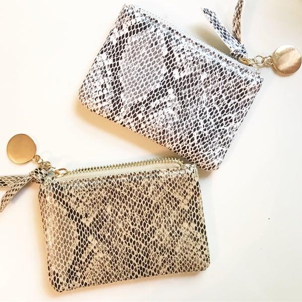 Snakeskin Zip Wallet Pouch
