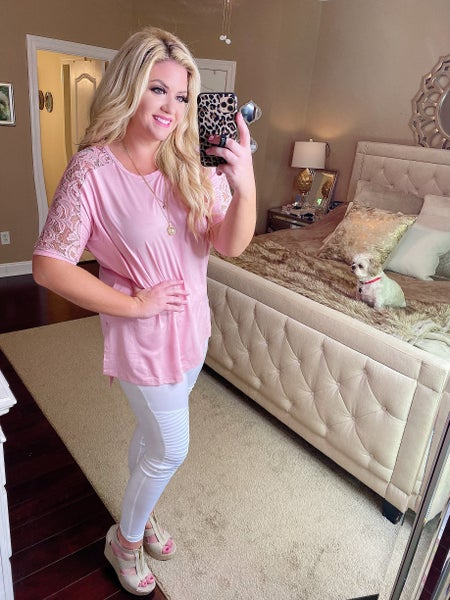 Precious Baby Pink Lace Tunic