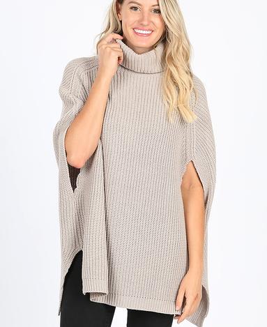 Warmest Love Poncho Sweater