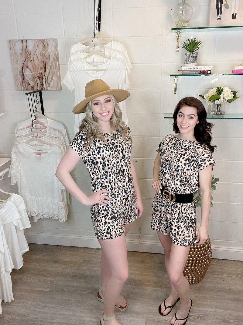 Forever and Ever Black Leopard Romper