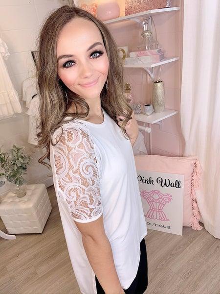 Precious Ivory Lace Round Neck Tunic