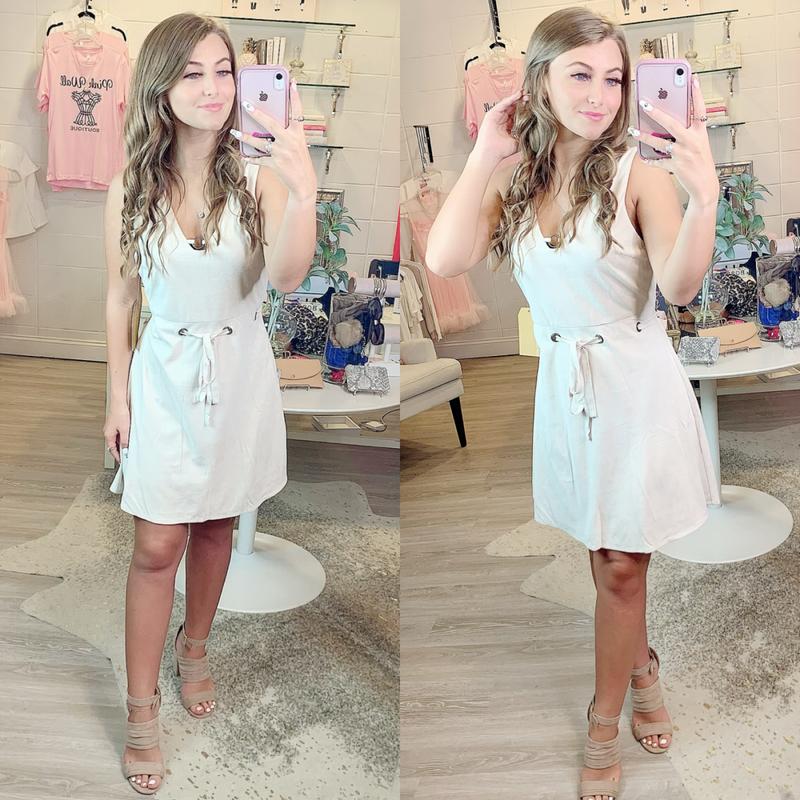 Cream Belt Dress *Final Sale*