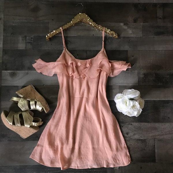 Blush Ruffle Dress